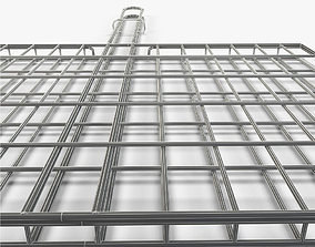 3D model bbq grid for grilling food