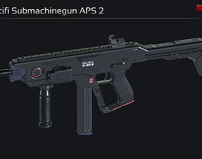 3D model Scifi Submachinegun APS 2