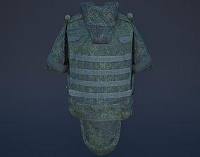 shield 3D model VR / AR ready bulletproof vest