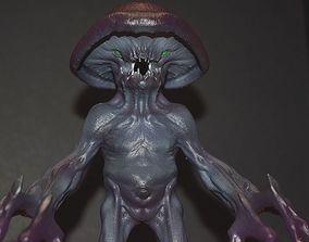 dungeon 3D printable model Myconid - Fantasy Miniature