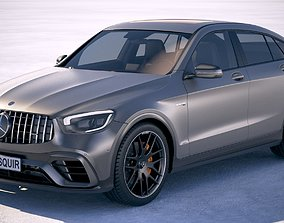 Mercedes-Benz GLC63 S AMG Coupe 2020 3D