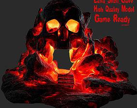 3D asset lava skull cave