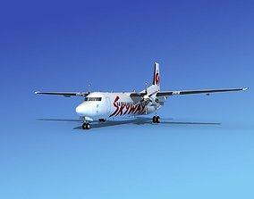 3D Fokker 50 Skyways