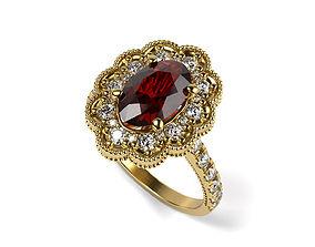 Flower Simple Engagement Ring 3D print model