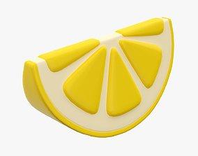 3D Lemon slice stylized
