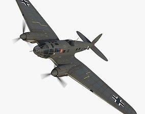 3D asset animated Heinkel He 111 5J-DM
