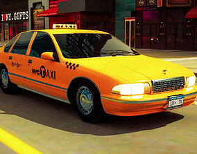 3D model New York Taxi Cab
