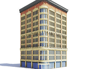 Narrow Building 3D Model