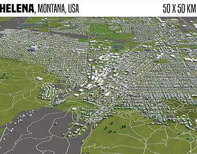 Helena Montana USA 50x50km 3D