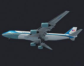Air Force One Landing Scene 3D model