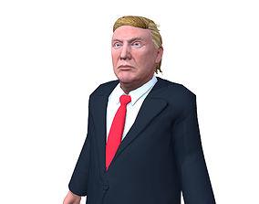 3D model Donald Trump low poly