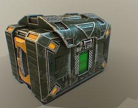 3D asset Sci-fi ammo box