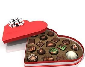 3D Chocolate Heart Box