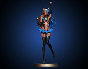 3D printable model pretty Anime girl
