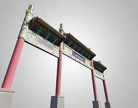 3D model The Chinese ancient archway