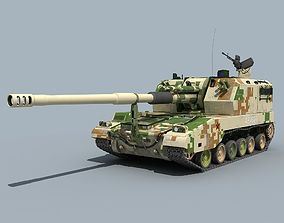 China Type PLZ05 155mm Self-propelled Gun 3D model