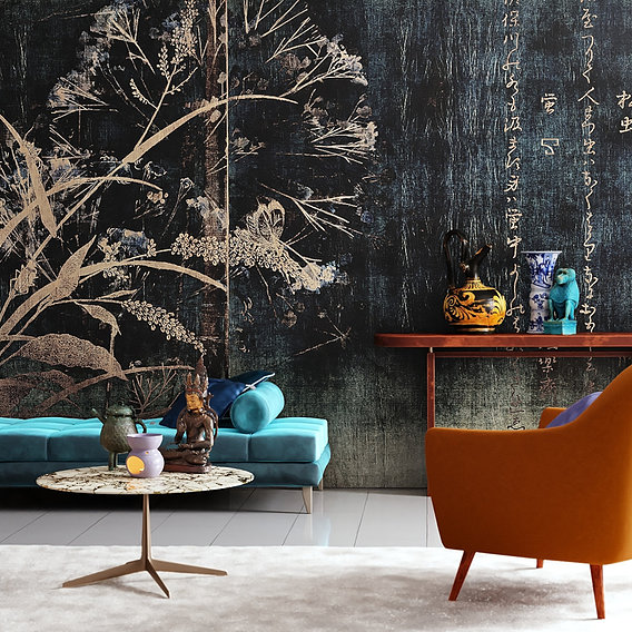 Interior with wallcovering