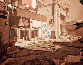 Post-Apocalyptic Urban City 3D model