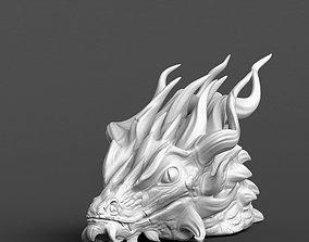 Dragon head 3D print model fantasy