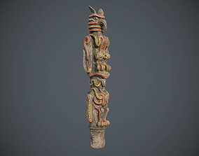 Indian Totem PBR low poly 3D model game-ready