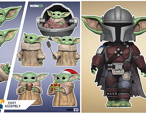 3D model The Mandalorian - Child Yoda Collection