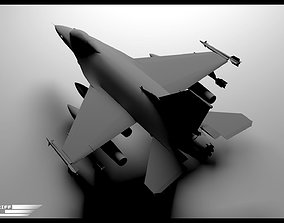 3D f 16 fighter
