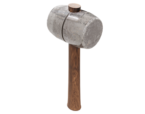 3D blacksmith Wood and Steel Mallet