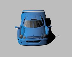 3D asset Low Poly Mercedes CLKGTR