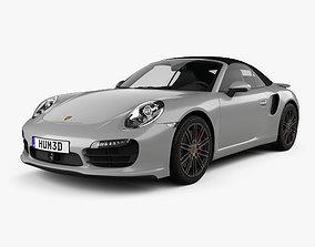 3D model Porsche 911 Turbo cabriolet 2012
