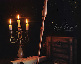 LUNA LOVEGOOD WAND - HARRY POTTER 3D print model