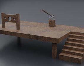 Hangman Board 3D asset