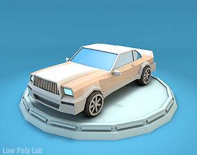 Cartoon Luxury Car 3D asset