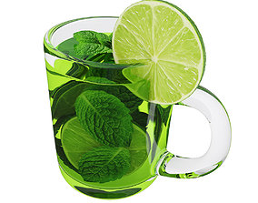 3D model Green tea mug