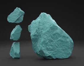 Scanned Old Rock 3D Print Model