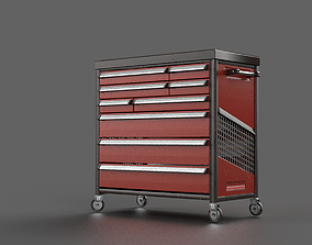 3D model ToolTrolley