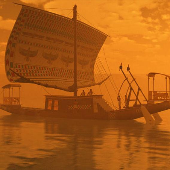 A Royal Ship Sails Upstream