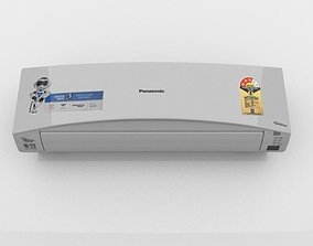 3D model 1 TON SPLIT INVERTER AIR CONDITIONER WHITE