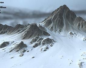 mountain 3D asset realtime Snow Mountain