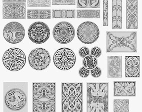 3D model Celtic Ornaments Collection