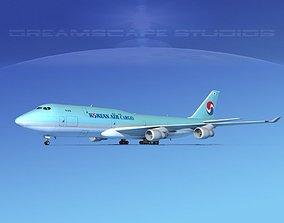 3D Boeing 747-8I Korean Air Cargo