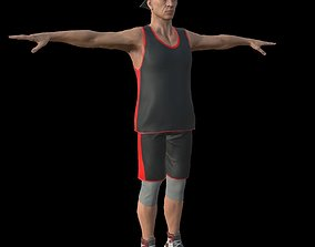 3D asset basketball player