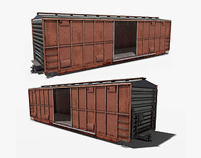3D model Train Box Car