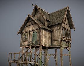 Medieval lake village - House 7 3D model