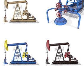 3D model Oil Pumpjack Animated Pack