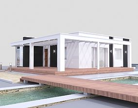 photorealistic 3D Modern House model