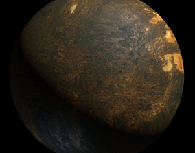 3D Planet Beta Hydri