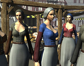 3D model NPC Villager Female