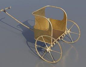 Detailed Egyptian Chariot Military Tutankhamen 3D asset 2