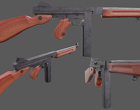M1 Thompson - American WW2 Weapon 3D model realtime