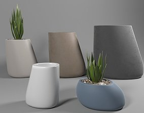 3D Vondom stones stone planter